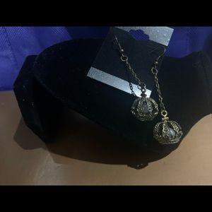Jewelry - Crown Dangle Earrings